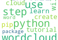 Python Creates Word Cloud - A Step Guide - Python Wordcloud Tutorial
