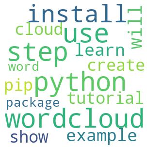 Python Creates Word Cloud - A Step Guide - Python Wordcloud Tutorial