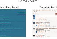 The effect of cv2.matchTemplate() cv2.TM_CCOEFF