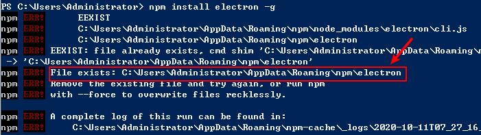 fix npm install EEXIST ERROR - A step guide