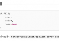 tf.fill() example: Creates a Tensor Filled with a Scalar Value - TensorFlow Tutorial