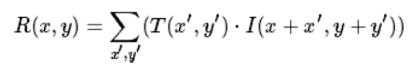 the equation of cv2.TM_CCORR