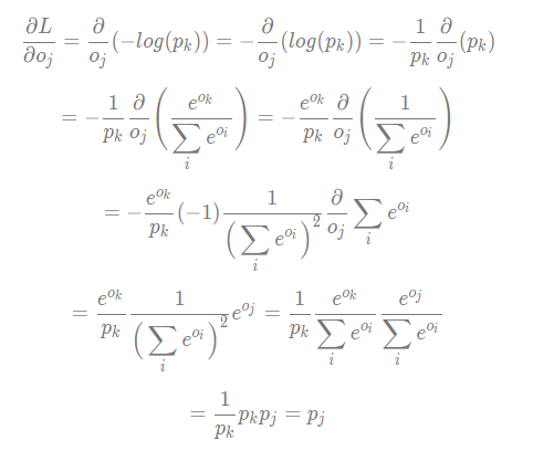 the gradient of cross entropy loss part 2