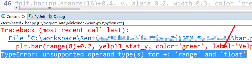 Fix TypeError - unsupported operand type(s) for - 'range' and 'float'