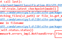 tf.train.latest_checkpoint() FindFirstFile failed Error
