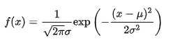 the equation of Gaussian Distribution