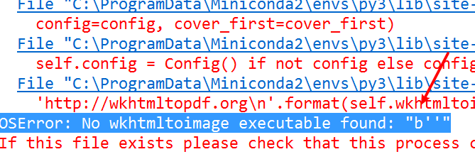 Fix OSError No wkhtmltoimage executable found b in Python - Python Tutorial