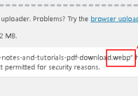 wordpress not allow to upload webp images