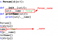 class variable name in python variable properties