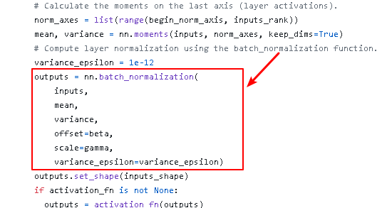 tf.contrib.layers.layer_norm() implementation