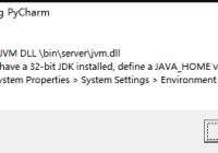 Error launching PyCharm