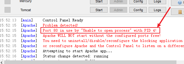 XAMPP Apache Port 80 in use