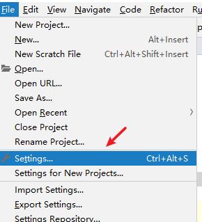pycharm file settings