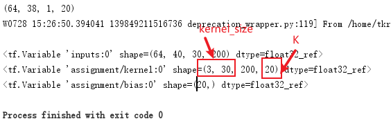 tf.layers.conv2d() example with kernel_size and filters