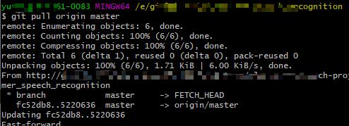 git pull origin master example