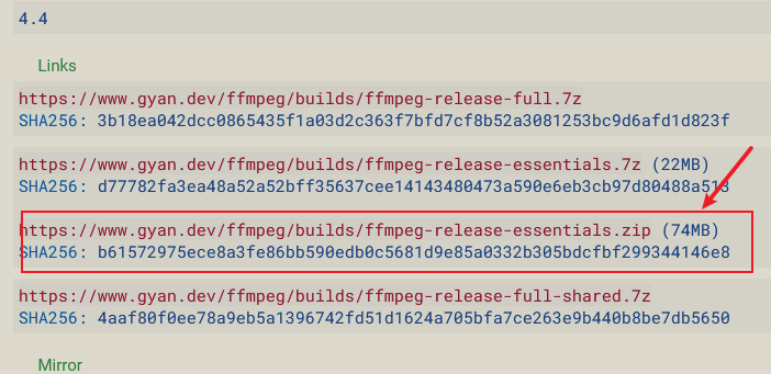 download ffmpeg